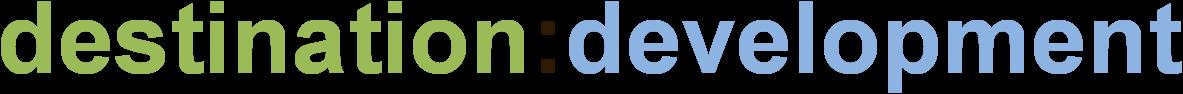 destinatination:development Logo 300dpi (für hellen Hintergrund)